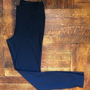 Nike recycled material dry fit navy blue leggings